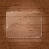 Wooden Texture with Glass Framework Stock Photography