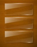 Wooden texture with glass framework. Vector eps10 Royalty Free Stock Photography