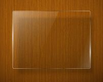 Wooden texture with glass framework. Vector eps10 Stock Photography