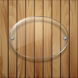 Wooden texture with glass framework. Vector illustration Stock Image