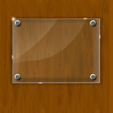 Wooden texture with glass framework. Vector Stock Photography