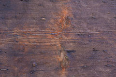 Brown Old wood with nails. Royalty Free Stock Photos