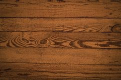 Wooden texture of horizontal boards in a brown color. stock image