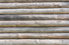 Wooden texture made of logs Royalty Free Stock Photo