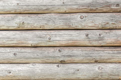 Wooden texture made of logs Royalty Free Stock Images