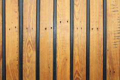Wooden texture with metal bars Stock Photography