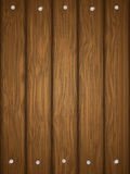 Wooden texture with nails. Royalty Free Stock Image