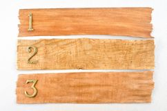 Wooden texture with numbers Royalty Free Stock Image