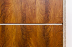 Wooden texture of nutwood. Close up Royalty Free Stock Photos