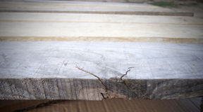 Wooden texture in perspective. There is a place for a small text or object Royalty Free Stock Photography