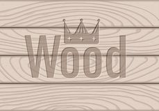 Wooden texture, processed board with. Text stock illustration