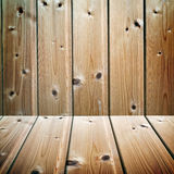Wooden texture room interior Stock Images