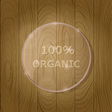 Wooden Texture with Round Glass Lens Stock Images