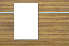Wooden texture with white board. White space on wooden texture Royalty Free Stock Photos