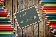 Back to school concept in french Royalty Free Stock Images