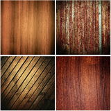 Wooden textures set Royalty Free Stock Images