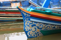 Wooden Thai ancient ship Stock Photography