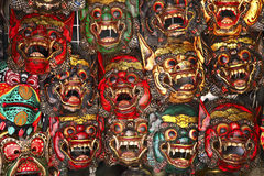 Wooden thai mask Royalty Free Stock Image