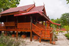 Wooden Thai  style house. Wooden Thai style house or resort from side Stock Images