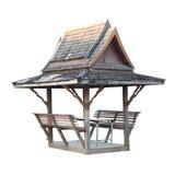 Wooden thai style pavilian Stock Photos