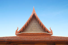 Wooden Thai style roof texture Stock Photography