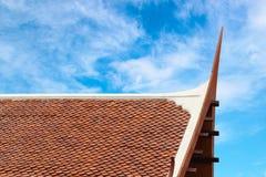 Wooden Thai style roof texture Stock Photo