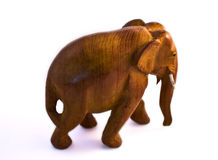 Wooden Thailand elephant Stock Images