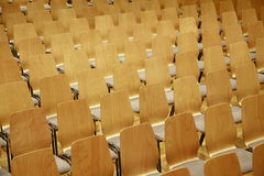 Wooden Theater Seats Stock Photos