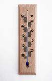 Wooden thermometer. Old wooden thermometer with celisius degree Stock Photography