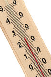 Wooden thermometer Royalty Free Stock Photos