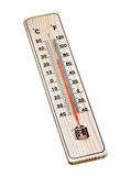 Wooden thermometer Stock Images