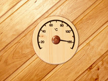 The wooden thermometer Royalty Free Stock Photography