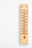 Wooden Thermometer with maximum temperature Royalty Free Stock Photos