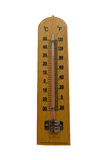 Wooden thermometer. Take the temperature Royalty Free Stock Images