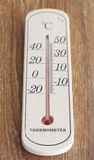 Wooden Thermometer Royalty Free Stock Photography