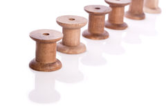 Wooden thread reel Royalty Free Stock Image