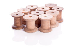 Wooden thread reel Royalty Free Stock Photos