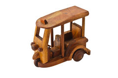 Wooden three wheeler auto rickshaw toy Stock Images
