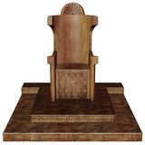 Wooden throne. 3D render of an old wooden throne royalty free illustration