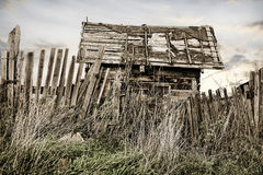 Wooden thrown rural house Royalty Free Stock Photos