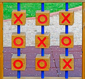 Wooden tic tac toe Royalty Free Stock Photos