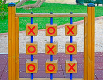 Wooden tic tac toe Stock Photos