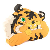 Wooden tiger puzzle toy Royalty Free Stock Images