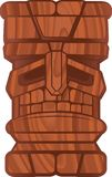 Wooden Tiki. A tiki idol carved from wood Royalty Free Stock Images