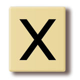 Wooden tile with the letter X Royalty Free Stock Image