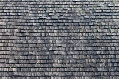 Wooden tile on the roof of the house Stock Image