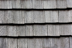 Wooden tile on the roof of a house Royalty Free Stock Images