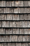 Wooden tiled house roof closeup Stock Images