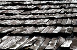 Wooden tiled roof Royalty Free Stock Photography