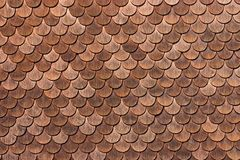 Wooden tiles. Traditionally used for wall protection in villages of canton Bern, Switzerland Royalty Free Stock Images